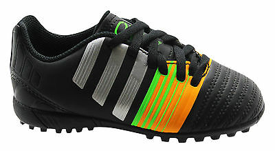 e258c242ea0a Adidas Nitrocharge 4.0 Astro Turf Kids Trainers Football Shoes Black M29894  D37