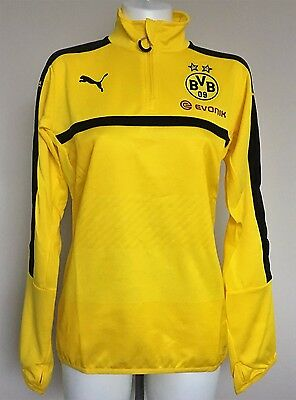 Borussia Dortmund 2016/17 Yellow Training 1/4 Zip Top By Puma Size Medium New