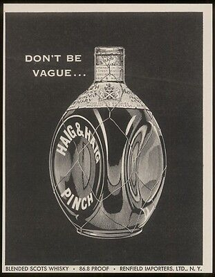 1955 Haig & Haig Pinch Scotch whisky vintage print ad