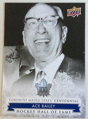 2017 Ace Bailey Ud Toronto Maple Leafs Centennial Hockey Hall Of Fame Sp #157