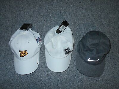 3 New! Nike Adult Mens One Size Athletic Golf Running Hats Lot / Dri-Fit      B2