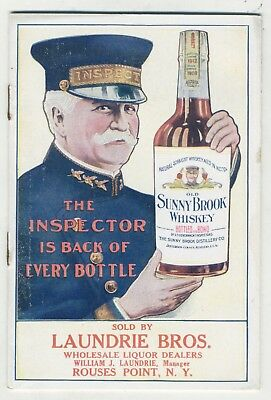 Sunny Brook Whiskey Advertising Brochure 10 Page Booklet 1920s
