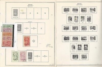 Macao Collection 1884 to 1974 on 25 Minkus Specialty Pages, Portugal Colony