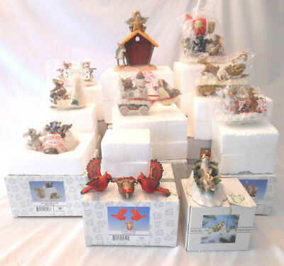 Charming Tails Fitz and Floyd Christmas lot of 10 read description