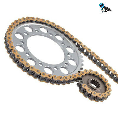 Gold Xring Chain and Sprocket kit Yamaha RD400 DX 78-80