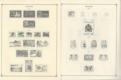 Malawi Collection 1964 to 1993 on 30 Scott International & Minkus Pages