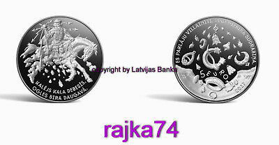 NEU - Lettland - 5 Euro 2017 - PROOF - Smith Forges in the Sky - VVK !!