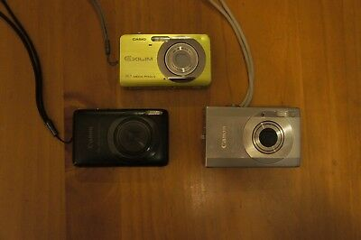 Lot of 3 -Assorted-Digital-Cameras As-Is Untested