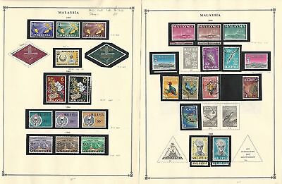Malaysia Collection 1963-1971 on 16 Scott International Pages