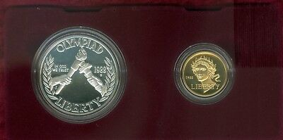 1988 U.S. Olympic Proof $5.00 Gold & Silver Dollar Set