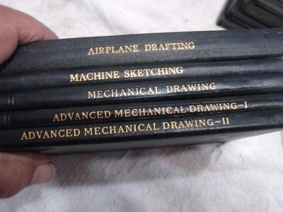 1930s40s International Library Mechanical & airplane  drawing  books