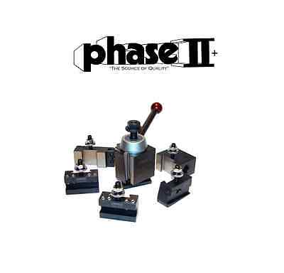 "Phase II Tool Post Set 5 Holders Wedge BXA 10 To 15"" Lathe Swing"
