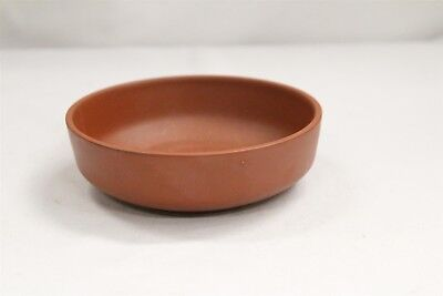 Chinese Yixing Low Round Pottery Bowl Signed
