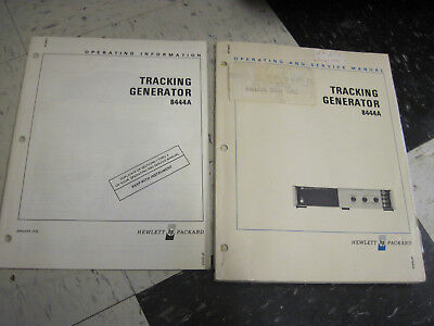 HP 8444A Tracking Generator Operation & Service Manual * INFORMATION