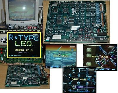 IREM R-TYPE LEO video arcade game PCB board fully working JAMMA shmup