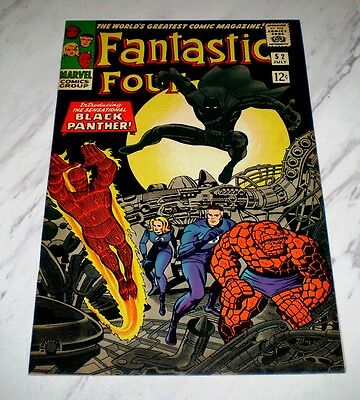 Fantastic Four #52 NM- 9.2 Cr/OW pages 1966 Marvel Silver age 1st Black Panther