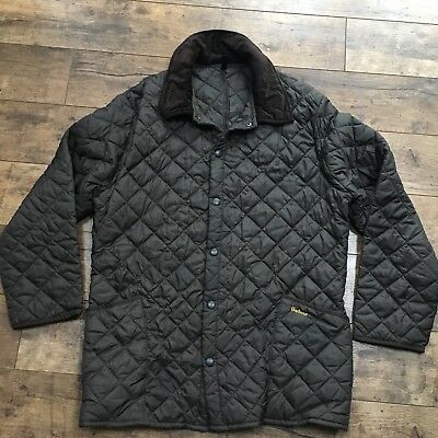 Men's Barbour Liddesdale Brown Quilted Jacket Size Xl