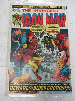 The Invincible Iron Man #55 VTG Marvel Comic, 1st Appearance of Thanos & Drax