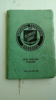 1946 Natl Federation of Flemish Giant Breeders Guide Book