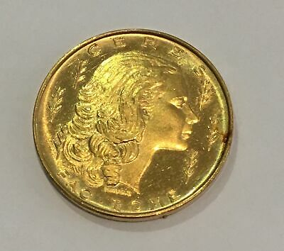 Ceres FAO Rome Vatican Token Gold Coin 7.775 grams Rare Foreign Proof Like!