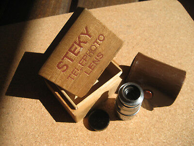 Steky 40Mm Telephoto Lens For Subminiature 16Mm Camera + Cap, Case & Makers Box