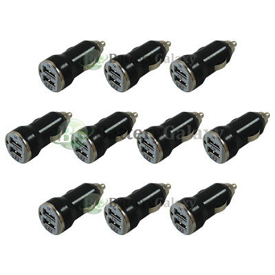 10X Universal Dual 2 Port Car Charger 2.1Amp for Apple iPhone/Android Cell Phone