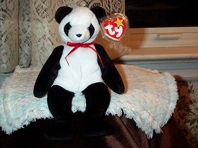 TY Beanie Baby babies bear Fortune Panda 12-6-1997 mint with mint tags retired