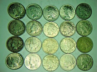 1 Roll (20 Coins) Peace Silver Dollars R10