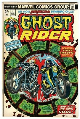 Ghost Rider #7 (1974) NM- Original Owner Marvel Comics Collection