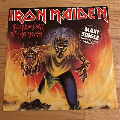 IRON MAIDEN The Number Of The Beast EP Maxi Single - GERMAN ORIGINAL PRESS w/ps