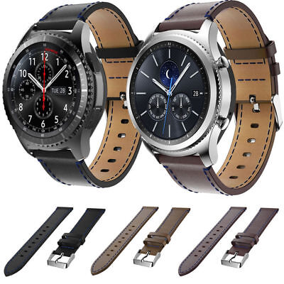 Premium Genuine Leather Watch Strap Band For Samsung Gear S3 Classic / Frontier