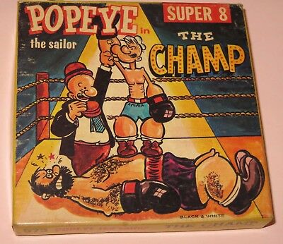 Vintage Ken Films POPEYE The Champ SUPER 8mm home movies 573 black white cartoon