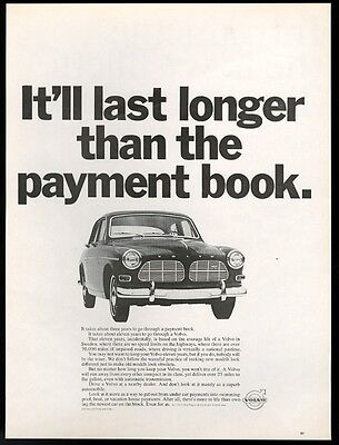 1966 Volvo 122 sedan photo It will last longer than the payment book vintage ad
