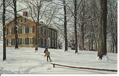 Vintage Postcard My Old Kentucky Home Bardstown winter