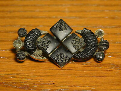 Antique Victorian Art Deco Art Nouveau Mourning Jewelry Brooch Pin Gutta-Percha
