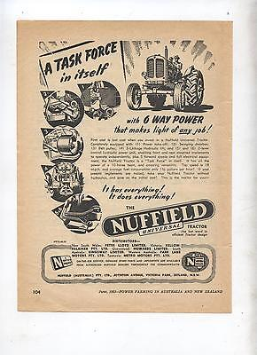 Nuffield Universal Tractor Advertisement removed from 1953 Farming Magazine