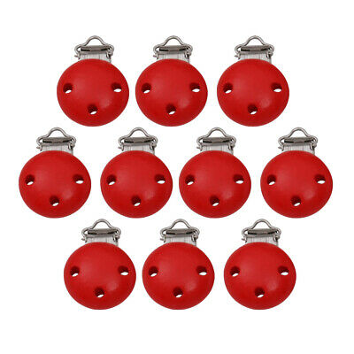 10pcs Wooden Pacifier Clips Nipples Holder Cartoon For Baby Infant Newborn