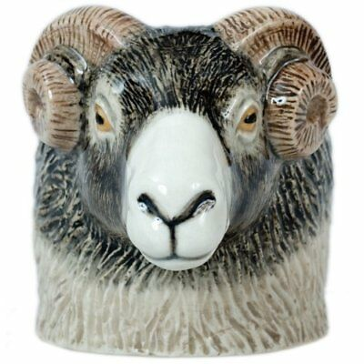 Quail Pottery  - SWALEDALE RAM  -FACE egg cup
