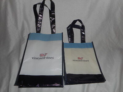 Vineyard Vines set of 2 small / medium  Reusable Shopping Tote Bag #A-01