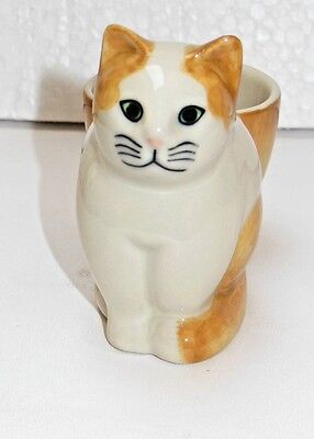 Quail Pottery  - Poppy Cat  with egg cup