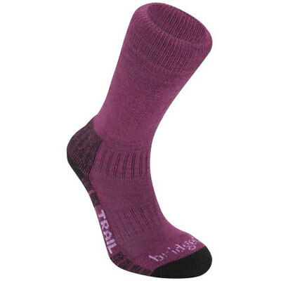 Bridgedale Woolfusion Trail Womens Underwear Walking Socks - Berry All Sizes