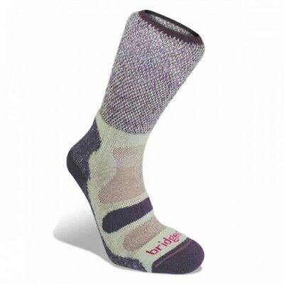 Bridgedale Cool Fusion Light Hiker Womens Underwear Walking Socks - Plum
