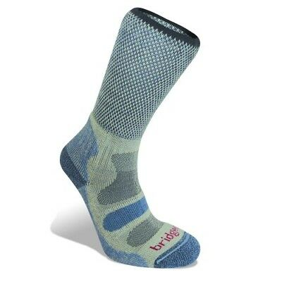 Bridgedale Cool Fusion Light Hiker Womens Underwear Walking Socks - Smokey Blue