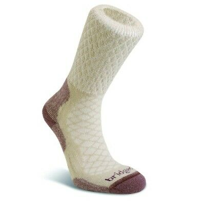 Bridgedale Merino Fusion Trail Womens Underwear Walking Socks - Sand All Sizes