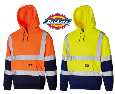 Dickies Two Tone Hi Vis Hi Viz Work Hoodie Hoody Sweatshirt Jumper GO/RT Railway