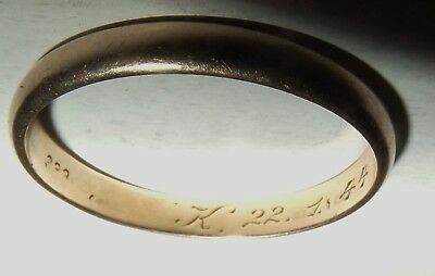 Alter Ehering Trauring Goldring 333 Gelbgold Gold