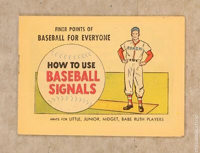 Finer Points of Baseball For Everyone: How to Use Baseball Signals 1962 VF- 7.5