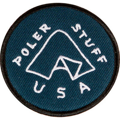 Poler Outdoor Stuff Iron On Unisex Accessory Patch - Tent Blue One Size