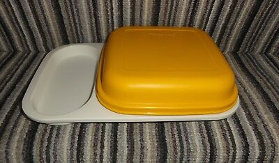 Vintage Tupperware Meal Mate Divided Lunch Box Plate Picnic Tray- Great Cond #2