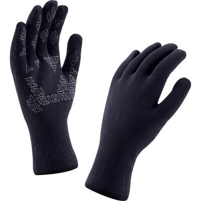 Sealskinz Ultra Grip Unisex Gloves - Black Anthracite All Sizes